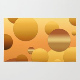 Pattern of soft gradient circles Rug