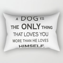 DOG IS THE ONLY TRUE FRIEND Rectangular Pillow