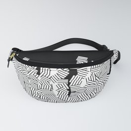 Minimalist black / White geometric Fanny Pack