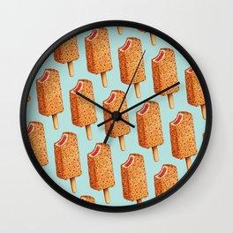 Popsicle Pattern- Strawberry Shortcake Wall Clock