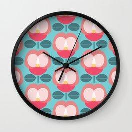 MCM Pink Pansy Wall Clock