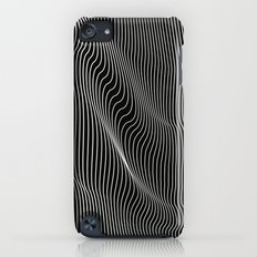 Minimal curves black iPod touch Slim Case