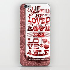 To Be Loved iPhone & iPod Skin