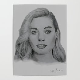 Margot Robbie portrait Poster