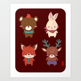Four from the Forest Art Print