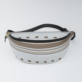 Squares and Stripes in Gray and Browns Fanny Pack