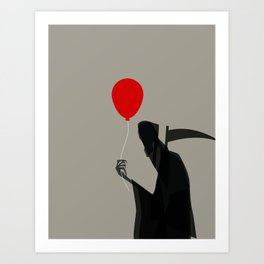 Death With a Balloon Art Print