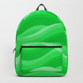 Wavy - Green Backpack