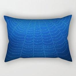 Blue Spider Web Rectangular Pillow
