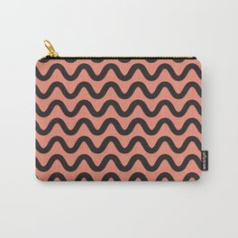 Coral Ripple Carry-All Pouch