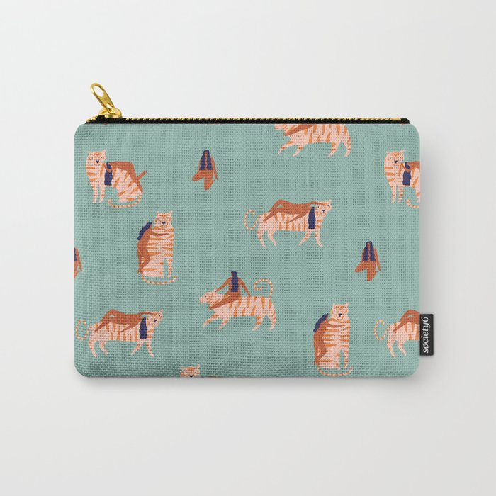 Tigers and girls Carry-All Pouch