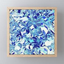 Blue sakura Framed Mini Art Print