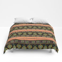Persian Tapestry Coral Peach Comforters