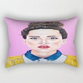 Pink & Messy Top Knot Rectangular Pillow