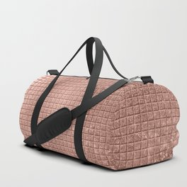Beautiful Modern Rose Gold Square Pattern Duffle Bag