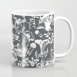 White mushrooms on grey background Coffee Mug