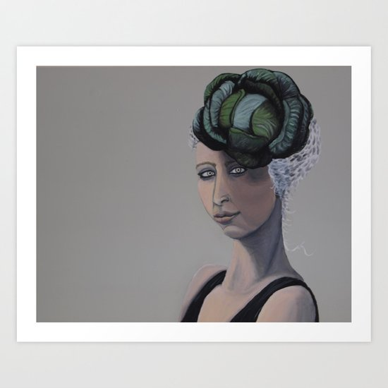 Cabbage Head 2 Art Print