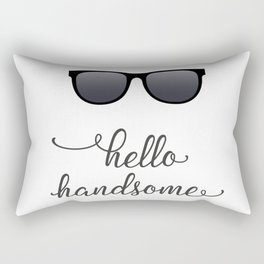 Hello Handsome with Sunglasses Rectangular Pillow
