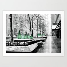 Christmas in Chicago Art Print