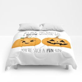 You're Such A Pun-Kin! Comforters