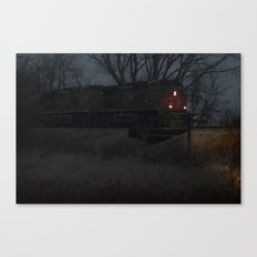 night hauling towards Chicago Canvas Print