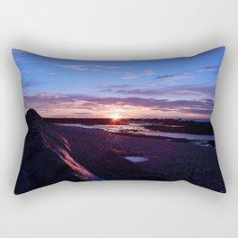 Beautiful Beach Sunset Rectangular Pillow