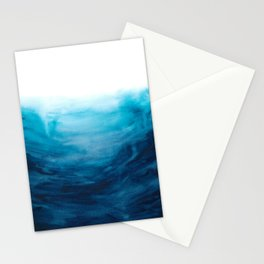 Dive into the deep blue sea Stationery Cards