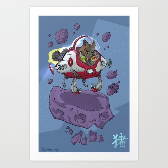 Astro Zodiac Force 12:  Boar Art Print