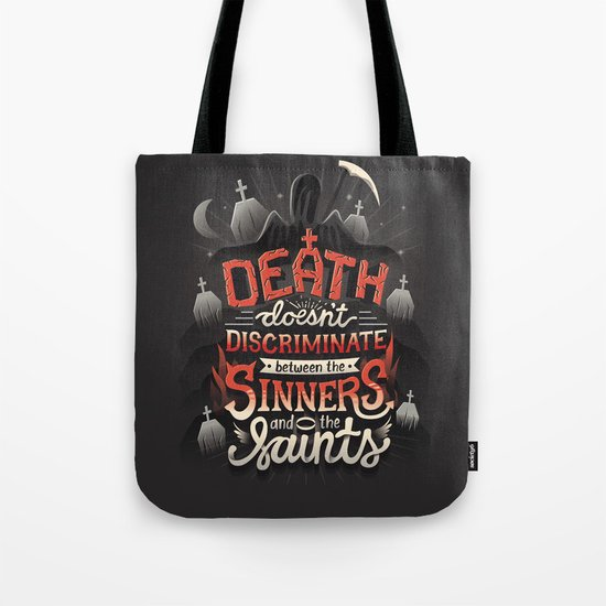 Sinners and Saints Tote Bag