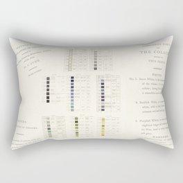 Werner's nomenclature of colour Rectangular Pillow