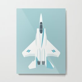 F15 Eagle Supersonic Fighter Jet Aircraft - Sky Metal Print