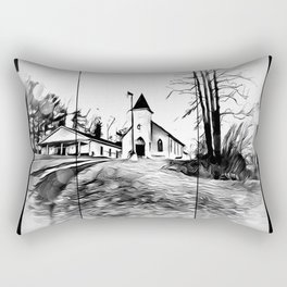 There's A Church In The Valley Rectangular Pillow
