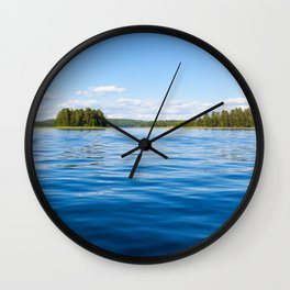 Finland lake scape at summer Wall Clock
