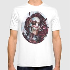 Queen of Ravens Mens Fitted Tee MEDIUM White
