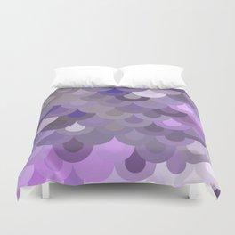 Purple Scales Duvet Cover
