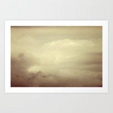 Alaskan clouds Art Print