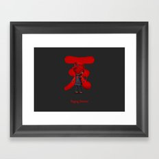 Raging Demon Framed Art Print