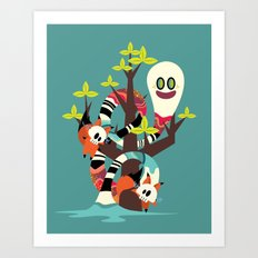 Fox Twins Art Print