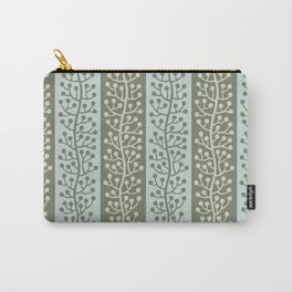 Mid Century Modern Berry Vine Sage and Mint Green Carry-All Pouch
