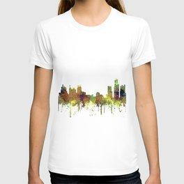 Detroit, Michigan Skyline SG - Spring Buff T-shirt