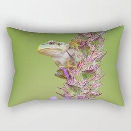 The little green frog Rectangular Pillow