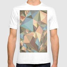 Renaissance Triangle Pyramids MEDIUM White Mens Fitted Tee