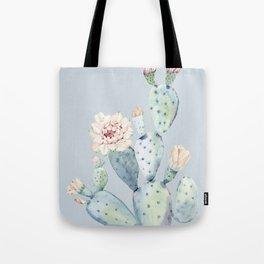 Prettiest Rose Cactus Blue Tote Bag