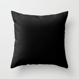 Black Minimalist Throw Pillow