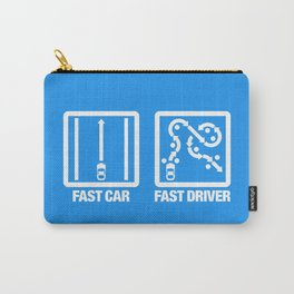 Fast Car - Fast Driver v4 HQvector Carry-All Pouch