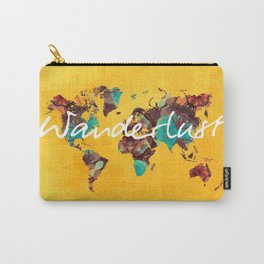 world map 123 wanderlust #wanderlust #map Carry-All Pouch