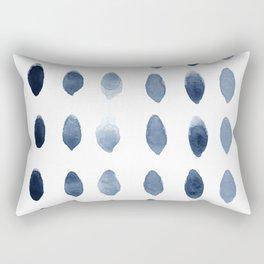 Minimalist Scandinavian Navy blue wall art print Rectangular Pillow