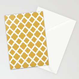 Yellow rombs Stationery Cards