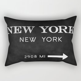 black watercolor new york new york Rectangular Pillow
