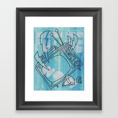 FUTURE ! WOW ! Framed Art Print